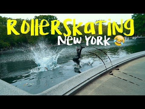 ROLLER SKATING INTO THE CONSERVATORY WATER IN CENTRAL PARK NEW YORK!!? | SOLMATES VLOG 145