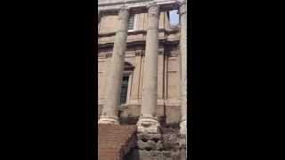 Rome: Temple of Antonius Pius + Faustina in Roman Forum