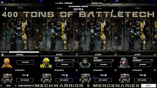 Mechwarrior 5  Mercenaries Beta - Full Lance of AS7-K