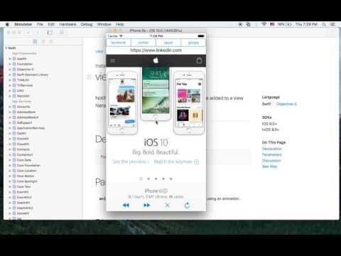 아이폰 스위프트 개발 강좌 - Swift3 iOS MiniBrowser 1