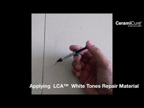 Tile Repair WIth CeramiCure LCA™ White Tones