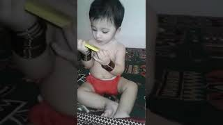 Funny Baby video || Cute kid || Cute baby playing with mobile