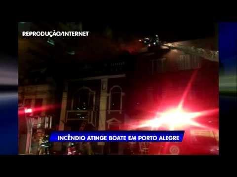 Time News [Urgente]: Incêndio atinge boate de Porto Alegre