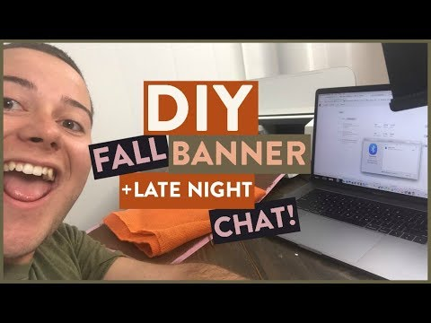 DIY Fall Banner + Late Night Craft Chat! 🎃