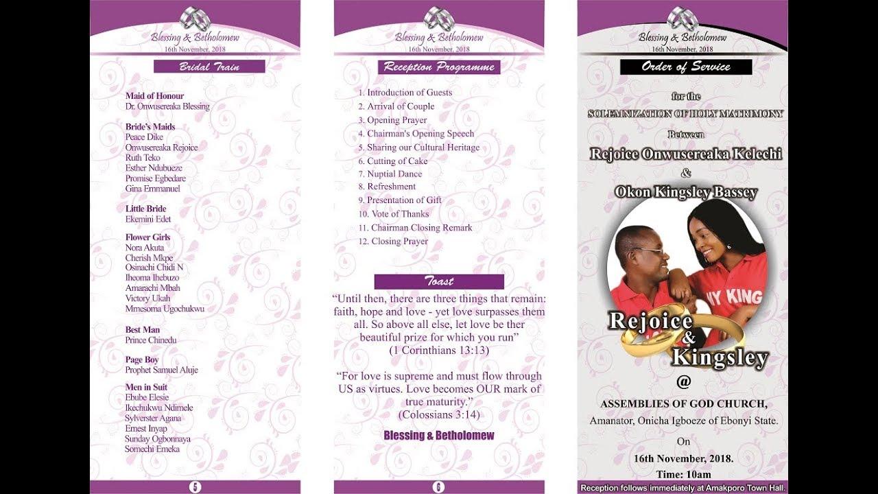Wedding Program Design - Coreldraw X7