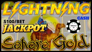 ⚡️HIGH LIMIT Lightning Cash Sahara Gold HANDPAY JACKPOT $100 SPINS ⚡️Dragon Link Golden Century Slot