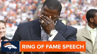 Shannon Sharpe's 2009 Ring of Fame Induction Speech | Broncos Throwback