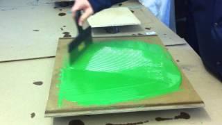 Пример нанесения Темафлор П 300 (окраска бетонных полов)
