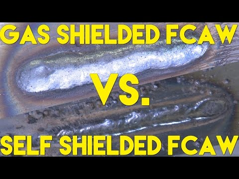 Flux Cored Welding with Gas vs without Gas (FCAW-G vs FCAW-S) | MIG Monday
