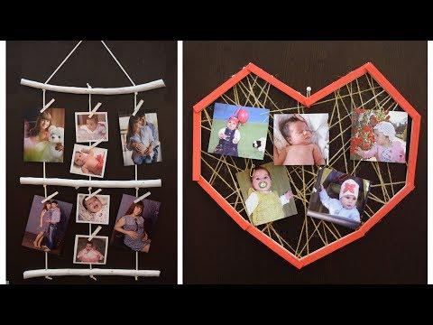 Фоторамки на стену на несколько фотографий своими руками