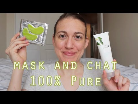 Mask and Chat: 100% Pure Aqua Boost Mask and Bright Eyes Under Eye Gels // Vegan, Cruelty Free!