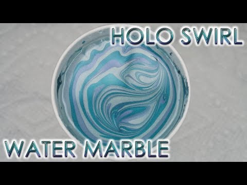 Holo Swirl | Water Marble March 2019 #1 | DIY Nail Art Tutorial thumbnail