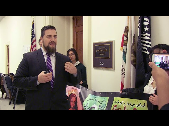 Video: CAIR Gov. Affairs Dir. Robert McCaw Joins in Delivery of 150K Muslim Ban Petition to Congress