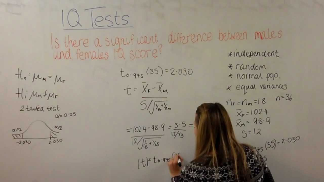 Two sample t-test example - YouTube