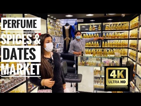 Perfume Market | Dates & Spices Market | Bur Dubai | UAE |2021 | Shoot from Iphone 12 pro max 4k