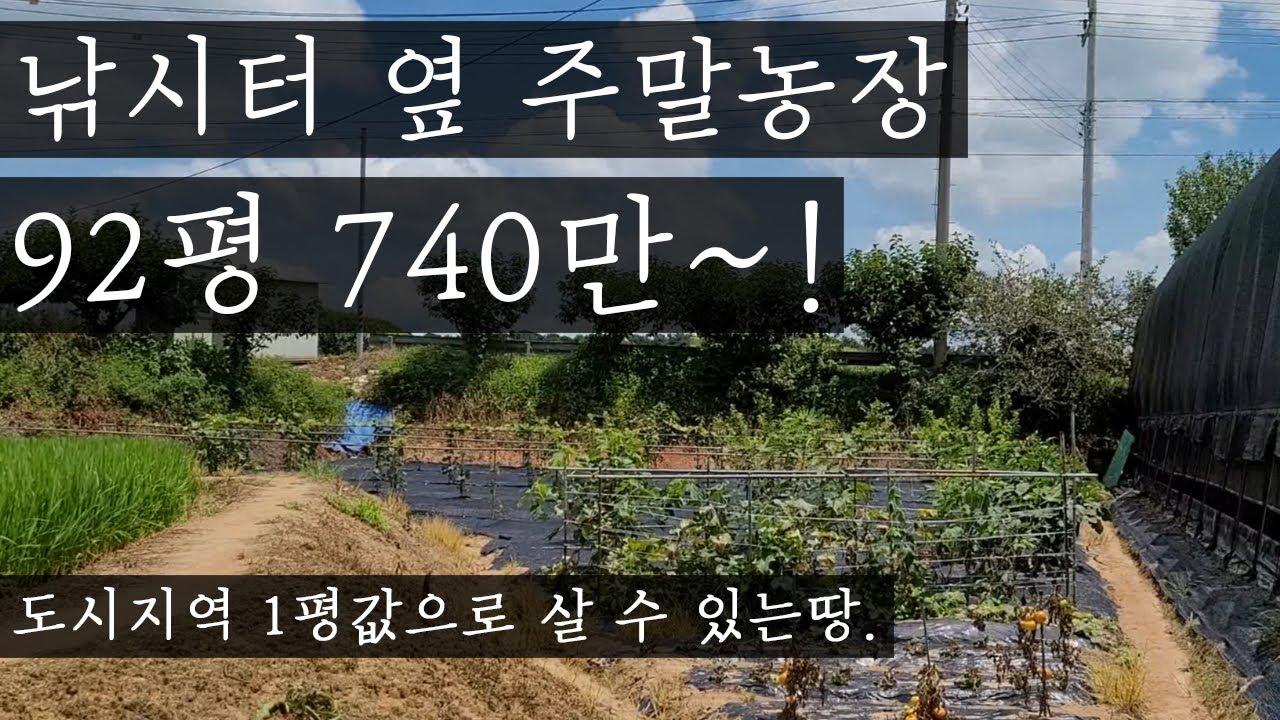 주말농장과 낚시를 한번에~ 낚시터 옆 텃밭92평 740만원~!(소액으로 땅 사시려는분 꼭 보세요~)