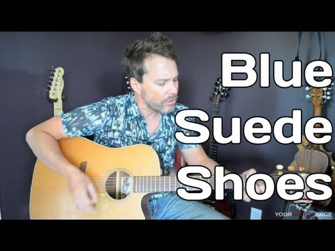 Blue Suede Shoes - Guitar Lesson - Elvis Presley - Beginner Guitar Lesson