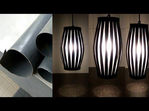 Lampu Hias Gantung Dari Paralon Pipa Pvc Bekas || DIY Decorative Hanging Lamps From Used Pvc Pipes