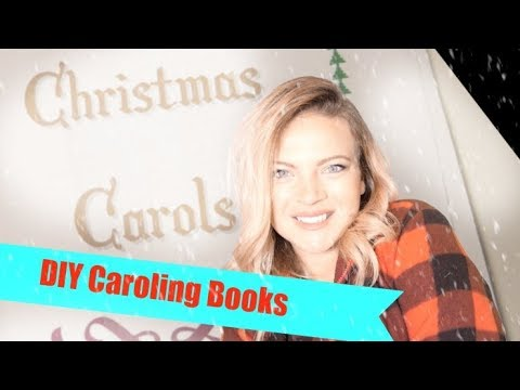 FREE printable Christmas Caroling Books