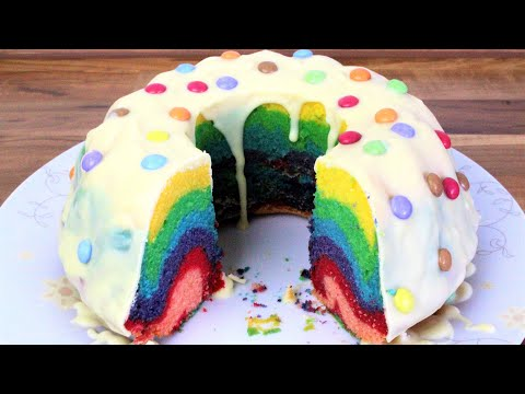 Regenbogenkuchen Rainbow Cake Gokkusagi Keki Youtube