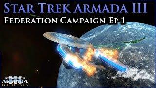 Commanding the Federation   Star Trek Armada III Ep I   Sins of a Solar Empire: Rebellion Mod