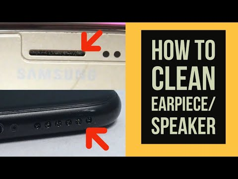 DIY- How to Clean Earpiece/Speaker Grill of iPhone 6/iPhone 7/Samsung