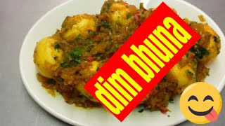 Bengali Style - Egg Bhuna -Bengali Food - Indian Cooking - pabda20