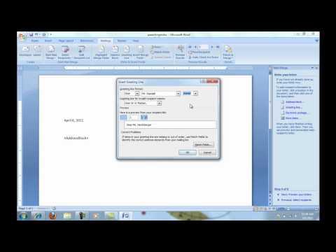 Step by Step Mail Merge Wizard in Word 2007 or Word 2010