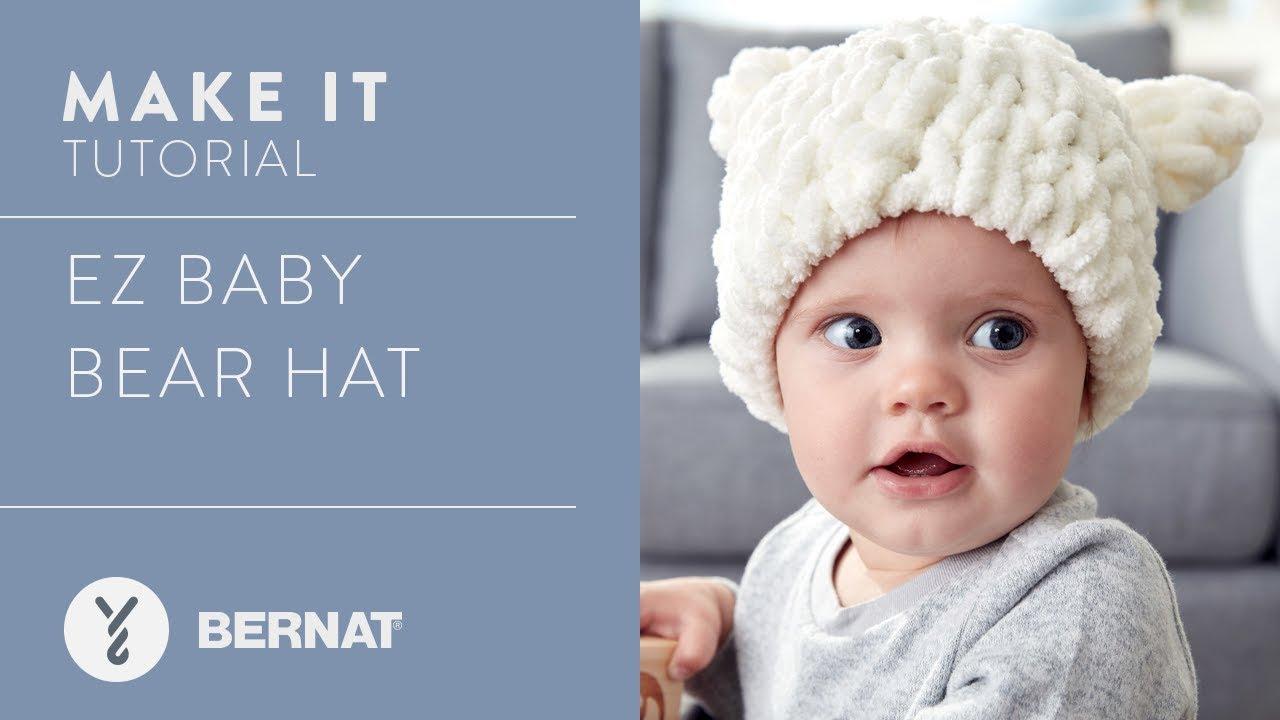 01e18bb98d9 EZ Knitting  Baby Bear Hat - YouTube