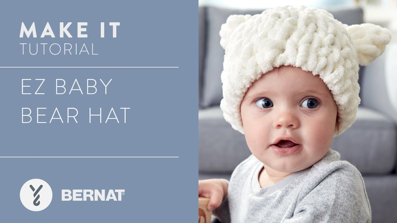 18f3dcdc00b EZ Knitting  Baby Bear Hat - YouTube