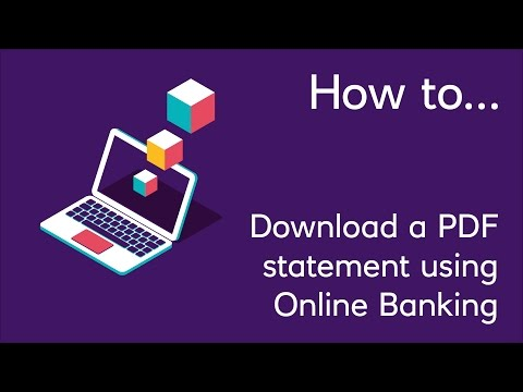 How to Download a PDF Statement using Online Banking