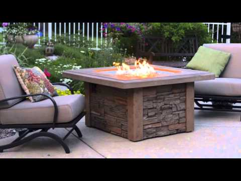 Sierra Gas Fire Pit Table - The Outdoor GreatRoom Company