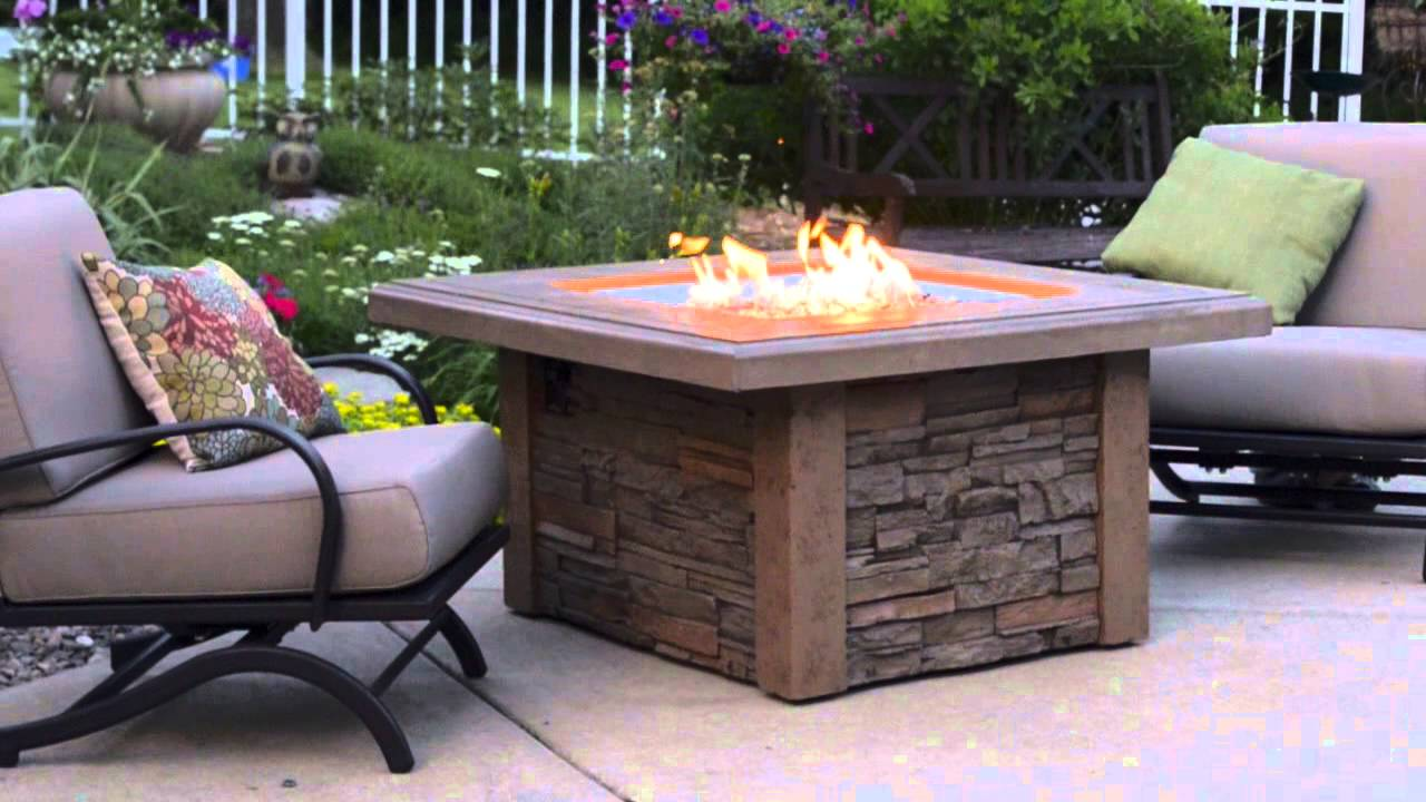 Sierra Gas Fire Pit Table - The Outdoor GreatRoom Company ...