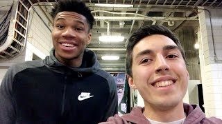 SHOWING GIANNIS ANTETOKOUNMPO MY BASKETBALL VIDEOS!!