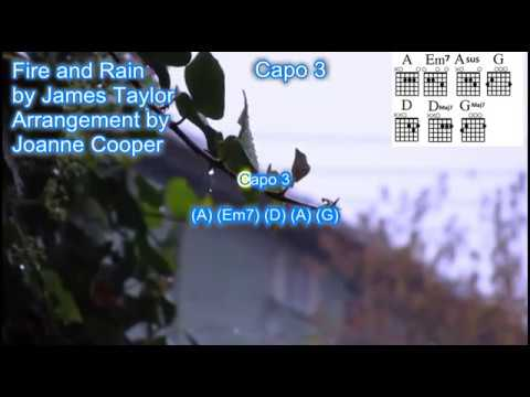 Fire And Rain By James Taylor Instrumental Backing Track With Lyrics