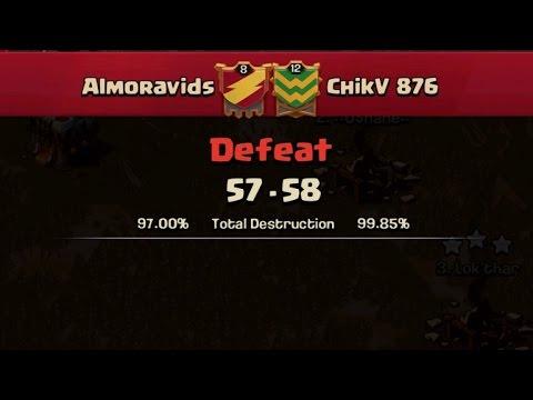 Clash of Clans- Jamaican War recap Almoravids vs ChikV 876