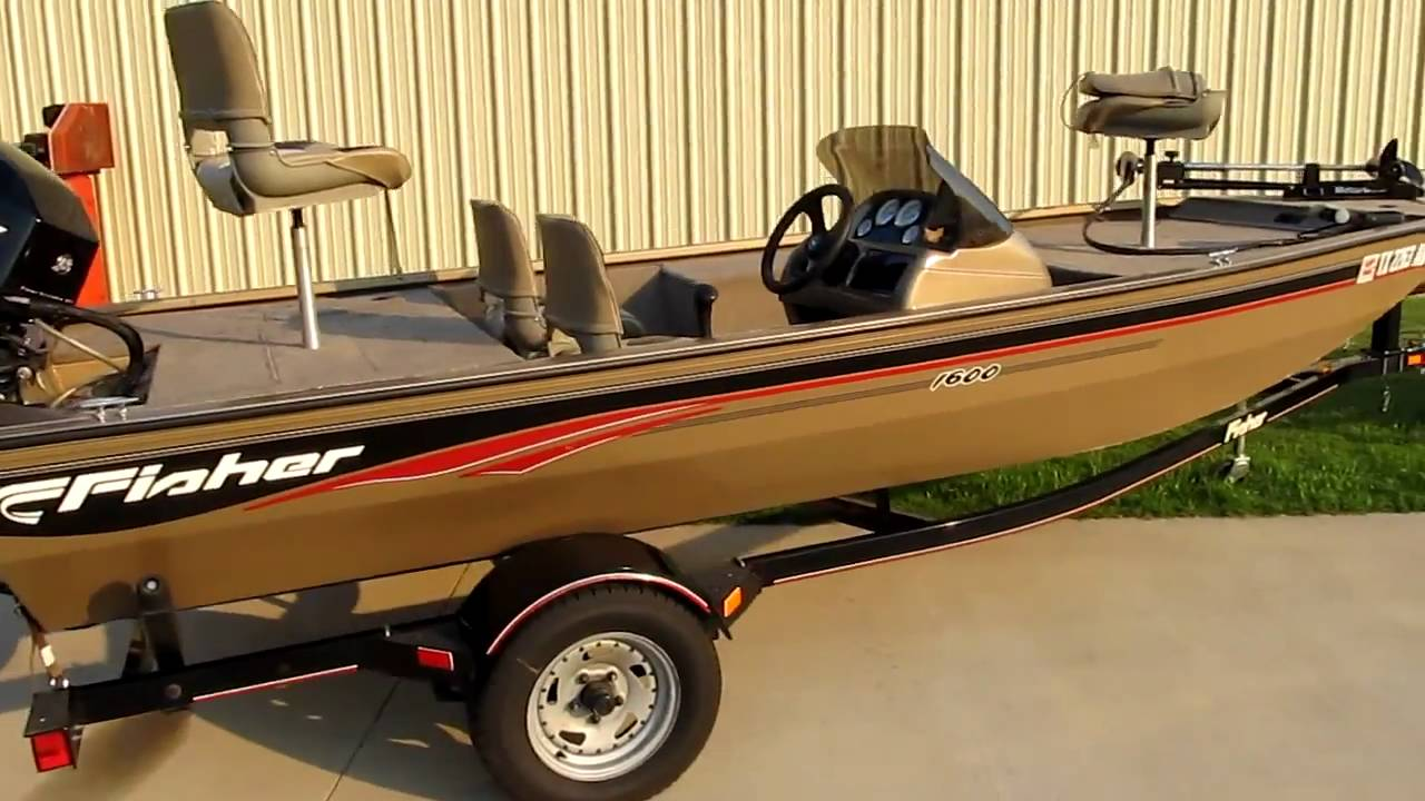 2006 Fisher Tracker 1600 Bas Boat For Sale 40hp Fourstroke Youtube