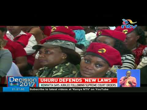 Uhuru defends new election laws