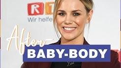 RTL-Moderatorin Sandra Kuhn zeigt ihre Kaiserschnittnarbe