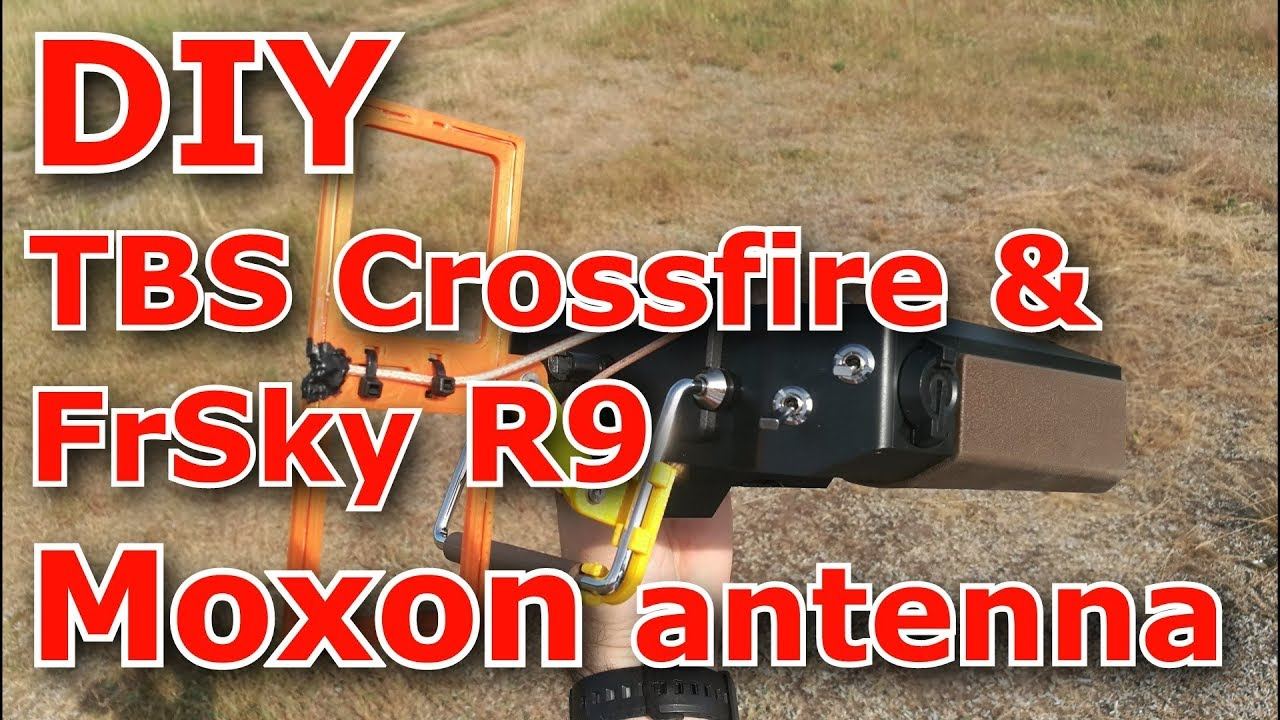DIY Moxon antenna for TBS Crossfire and FrSky R9
