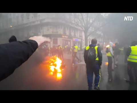 フランス 続く燃料増税への抗議デモ パリ、一部目的不純な人も紛れている