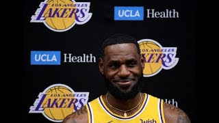 Lebron james talks to the media ahead of los angeles lakers' 2019-2020 season about adding anthony davis, space jam 2, winning a title and more. footage via ...