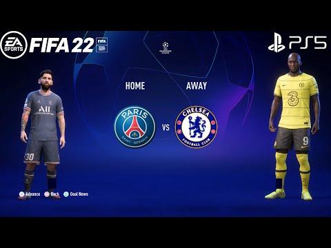 FIFA 22 PS5   PSG Vs Chelsea   UEFA Champions League   Insane Penalty Shootout E