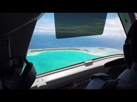 Taking off From Aitutaki, Cook Islands