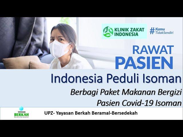 Indonesia Peduli Pasien Covid-19 Isoman di Rumah