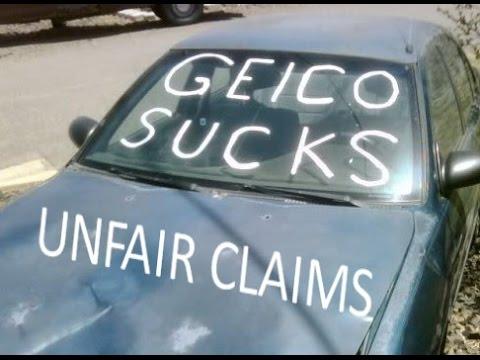 Unfair Claims Improper Repair GEICO Auto Insurance Sucks & Safelite