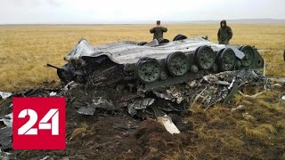 Момент падения двух боевых машин ВДВ во время учений сняли на видео - Россия 24