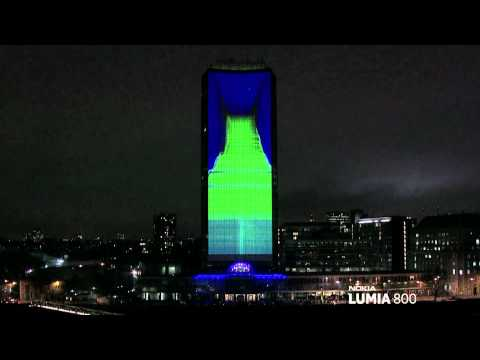 3D mapping Presentacion de producto - Nokia Lumia Live ft deadmau5 lights up London