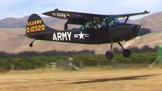Cessna L19 Bird Dog Taxi Takeoff Landing
