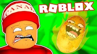 MAI GIOCA CALDO POTATO IN ROBLOX - Roblox momenti divertenti #105 🤣🎮
